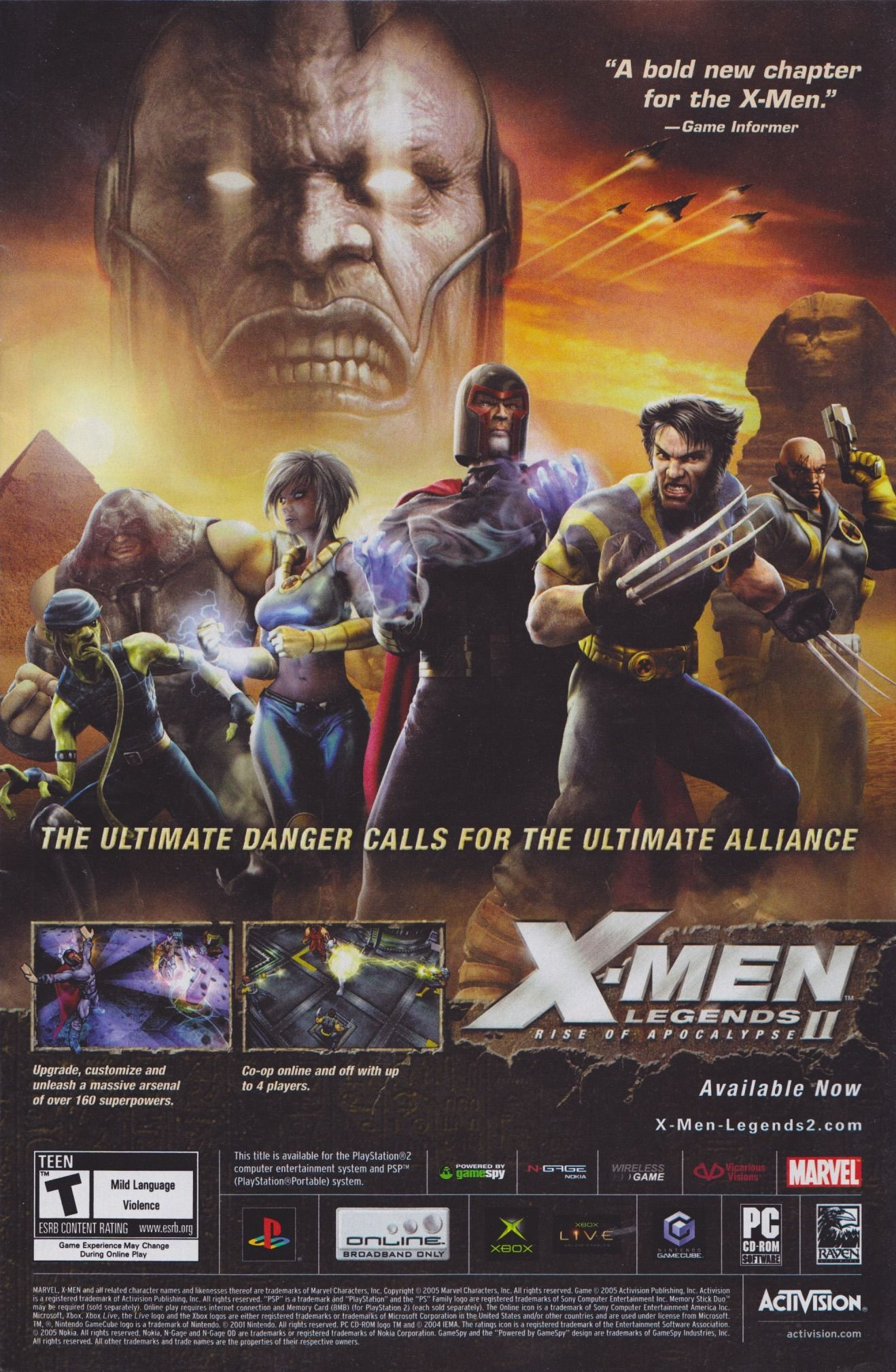 You Better Have Broadband Internet If You Re Gonna Join This Epic Fight 2005 Ps4 Xbox Gc Bitstory Retro Video Games Marvel Activision
