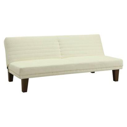 Delia Faux Leather Sleeper Sofa Vanilla Room Joy