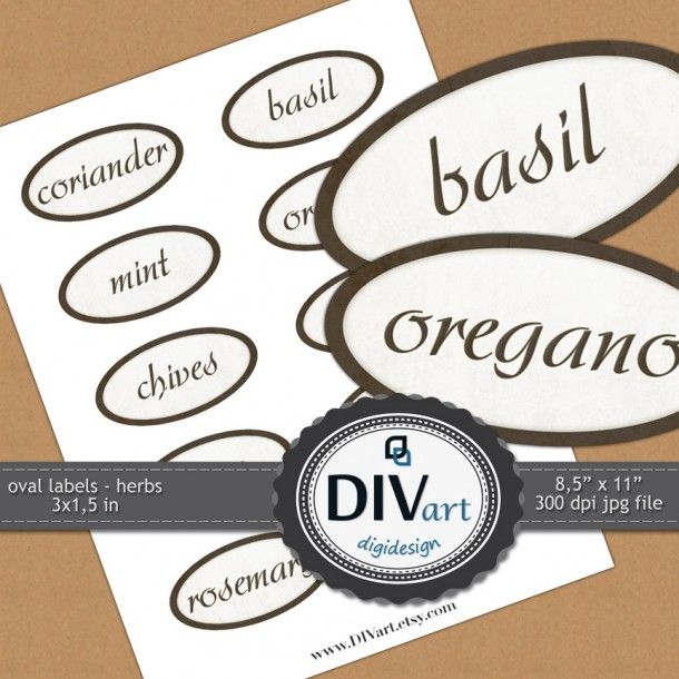PRINTABLE Oval Labels