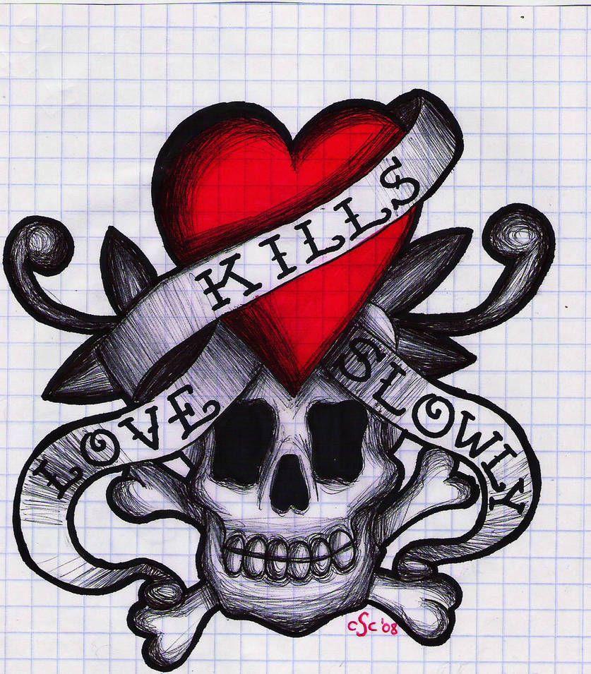 Love Kills Slowly By Xyz888 Coloring Books Drawings Art
