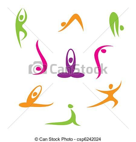 Postures de Yoga en dessin | Logo de yoga, Dessin