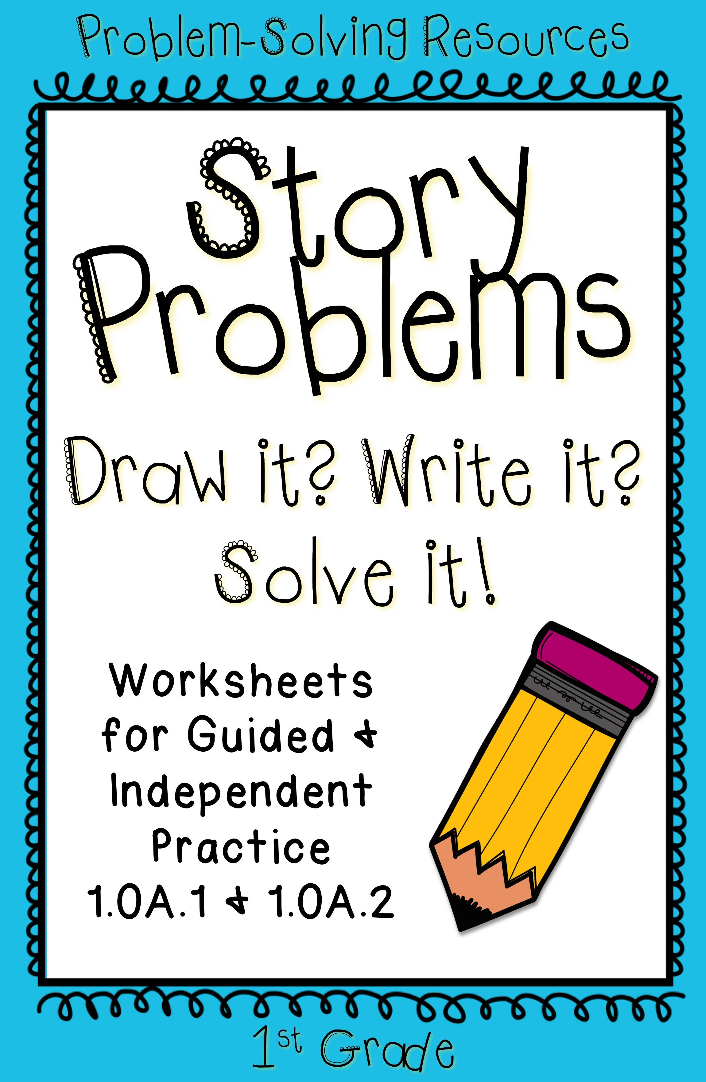First Grade Story Problems Help Students Practice Word Problems With This Packet Of Worksheets 1 Oa 1 Math Story Problems Math School Math Lessons [ 3524 x 2300 Pixel ]