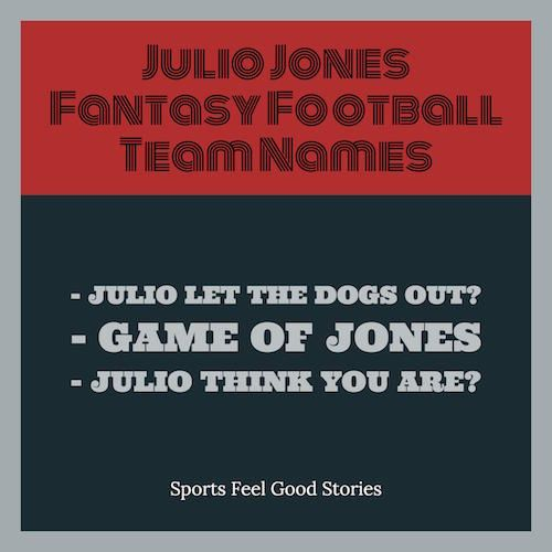 julio jones fantasy football team names over 30 pages devoted to funny clever and