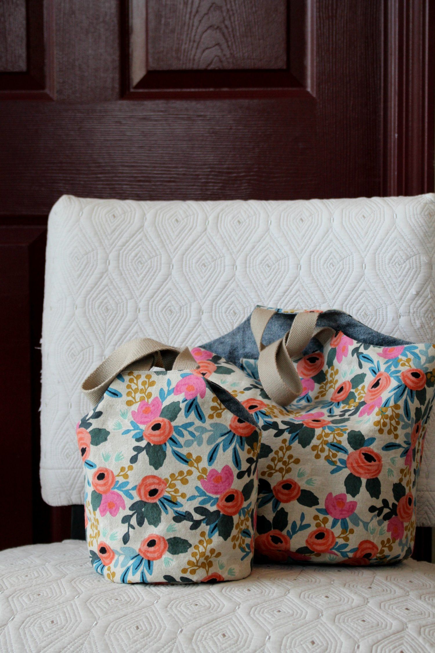 Take-Along Tote pattern pdf download | Bag patterns to sew ...