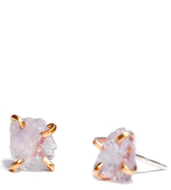 Amethyst Claw Stud Earrings