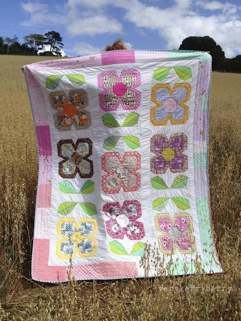 Verykerryberry Patchwork Please Zakka Along 2 Swedish Bloom Quilt Flower Quilts Quilts Baby Quilts