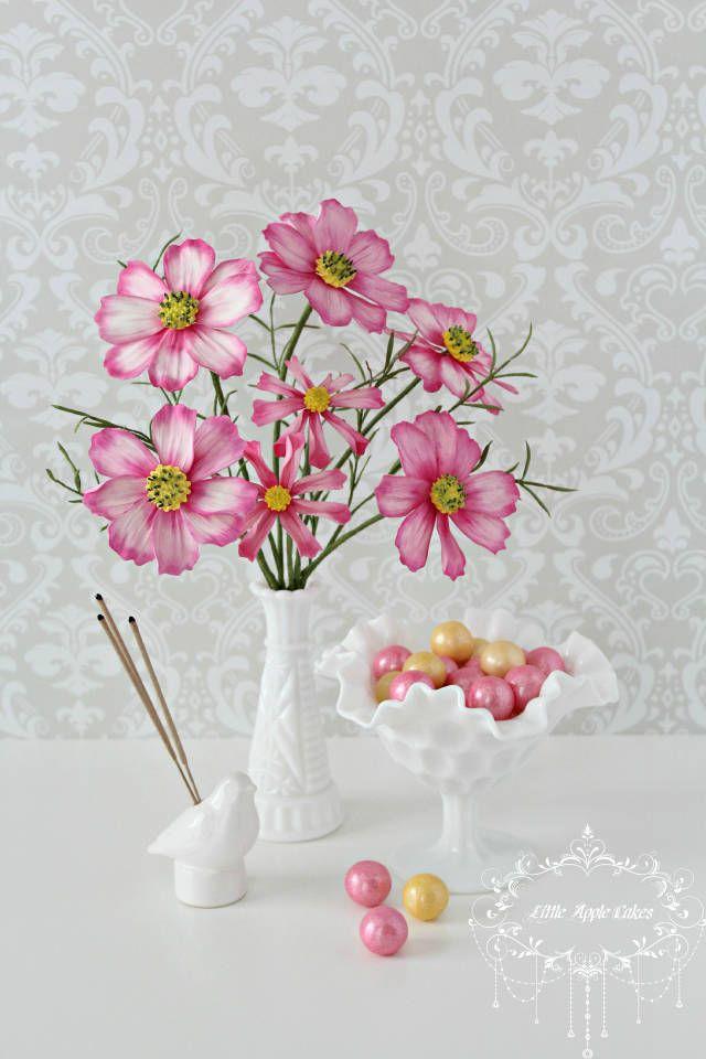 Cosmos flower tutorial | Flat brush, Supply list and Flower tutorial