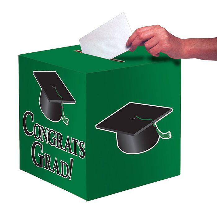 wholesale graduation card boxes green  graduation party