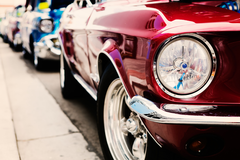 Classic Red Show Car Exterior Side