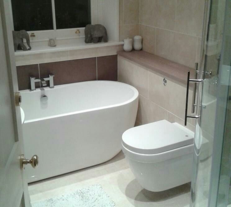 Perfect Tiny Bathroom Design For Trying To Fit Freestanding Bath