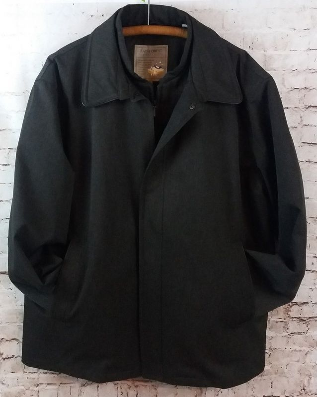 Men S Rainforest Membrane System Rain Jacket Coat Size Xxl Zip Out Lining 2 In 1 Coats Jackets Jackets Mens Outfits