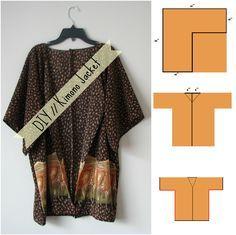 DIY // kimono jacket now on http://behindmysecretgarden.blogspot ...