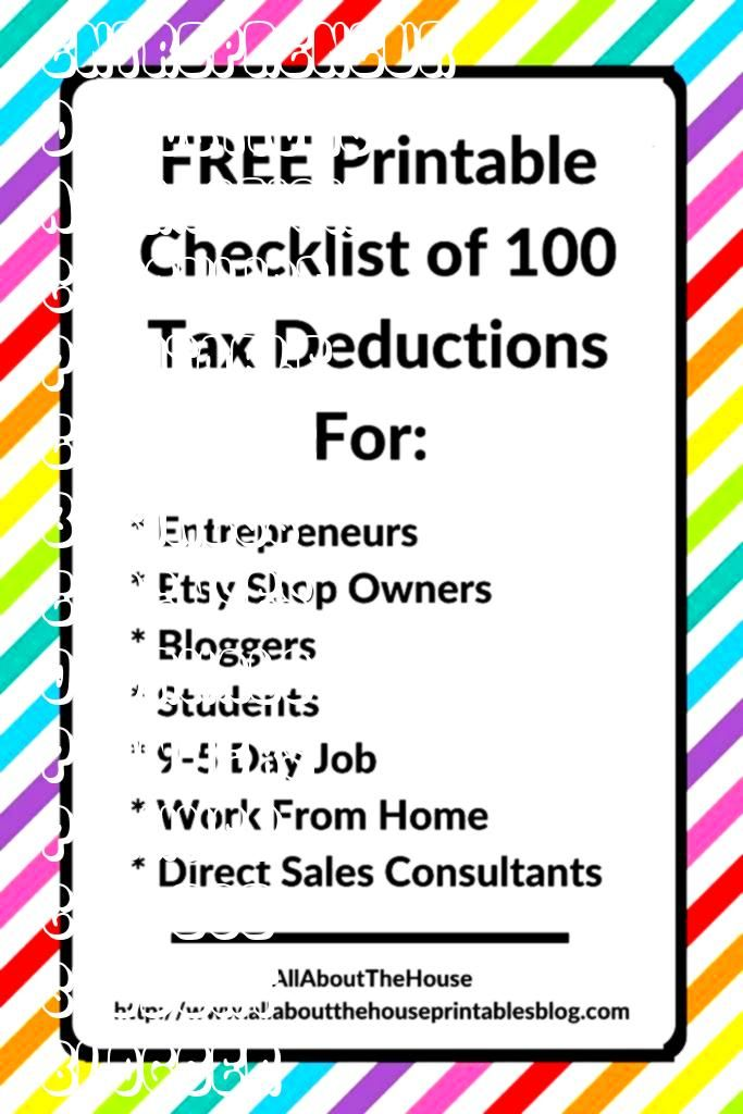 tax deductions for business owner blogger college student entrepreneur save on taxes tax time what can you claim of attraction planner of attraction planner examples of a...