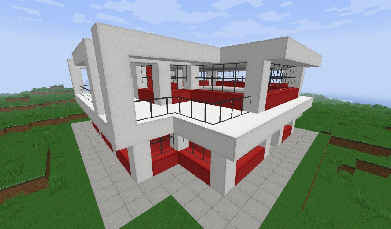 Small Simple Modern House Minecraft Map Minecraft Small Modern