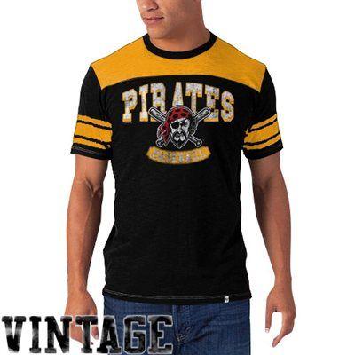 8ad52494 47 Brand Pittsburgh Pirates Vintage Top Gun T-Shirt - Black/Gold ...