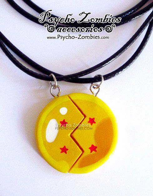 4 stars dragon ball BFF/couples necklace by psychozombies on Etsy, $20.00