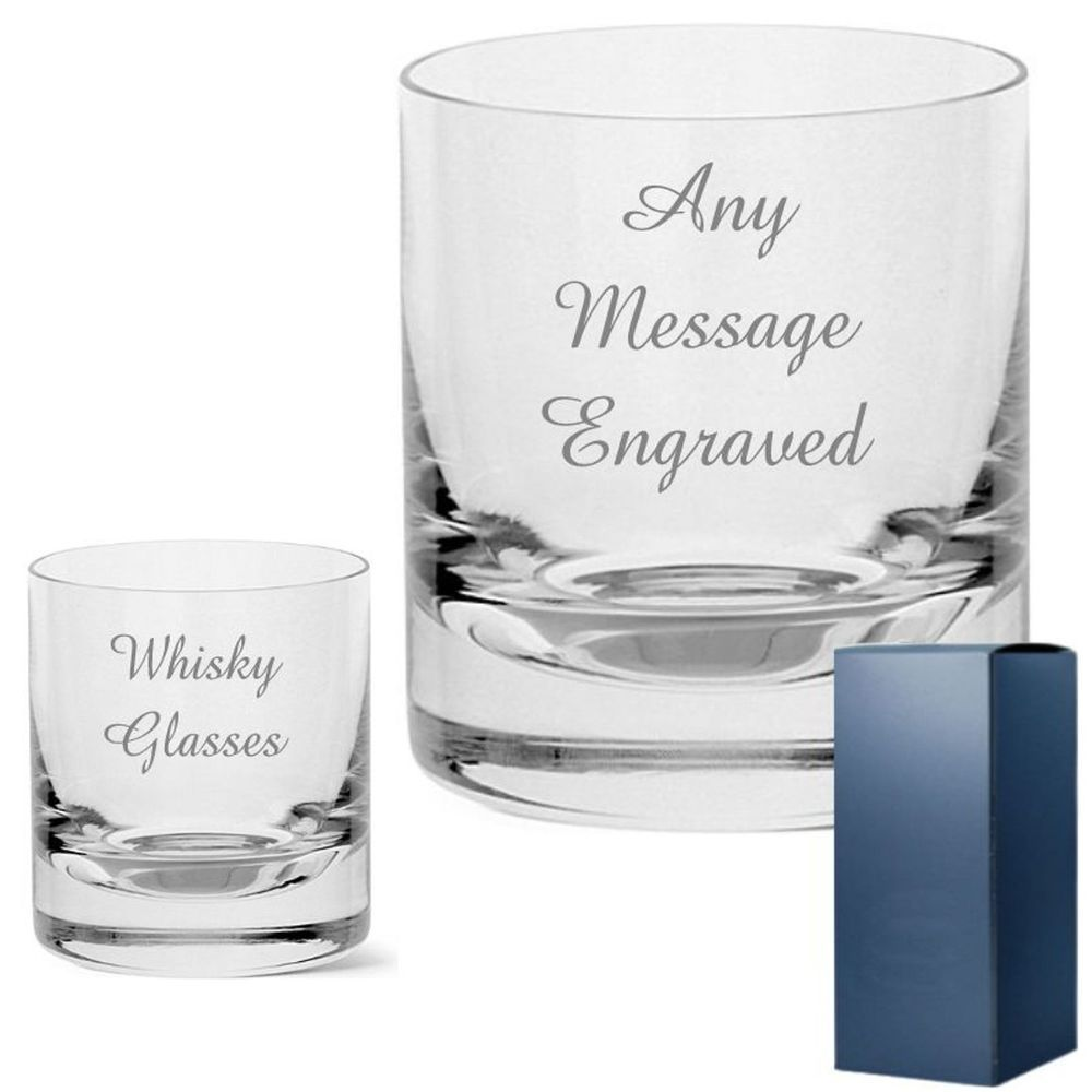Personalised Engraved Whisky Whiskey Tumbler Glass Birthday Fathers Day Gift