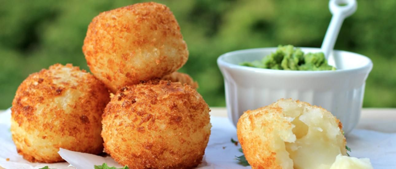 Yuca Balls Stuffed with Cheese -- We had some of these at Bahama Breeze, and they were flippin' out of this world delicious!