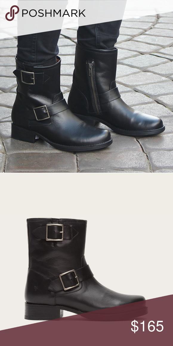 6ba18281530 Frye Shoes   Frye Vicky Engineer Boots Black Leather   Color: Black ...