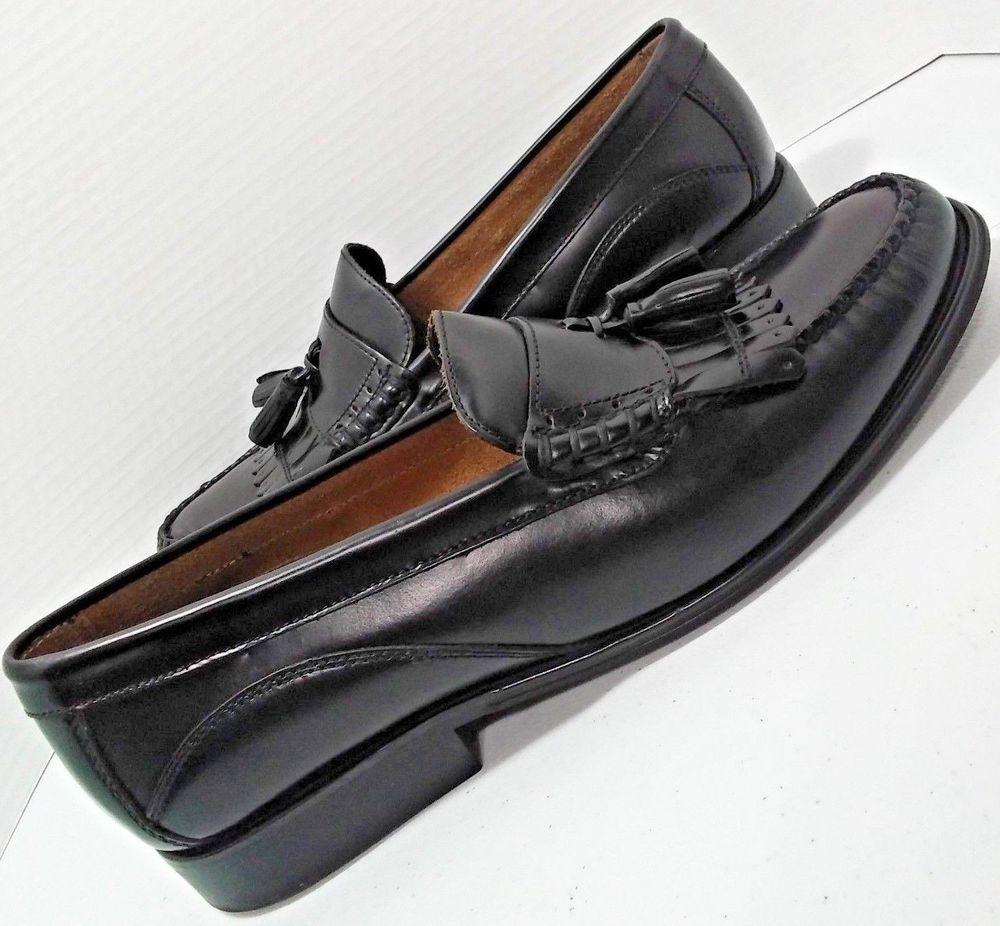 e6b7c048b2a G H Bass Weejuns Barnett Black Leather Kiltie Tassel Loafer Mens Dress  Shoes 13M  Bass  LoafersSlipOns  Wedding