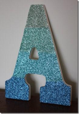 Art Glitter Design Team 2012 Audition Letter A Crafts Wood Letters Diy Letters