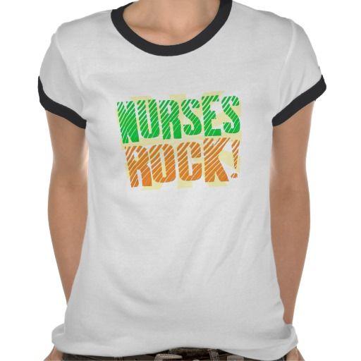 Nurses Rock, Orange and Green Fun T-shirts