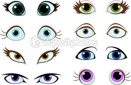 Pin Em Olhos
