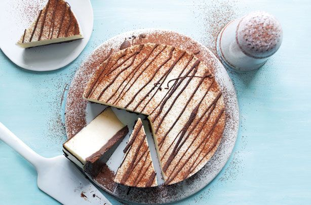 Slimming Worlds chocolate vanilla cheesecake