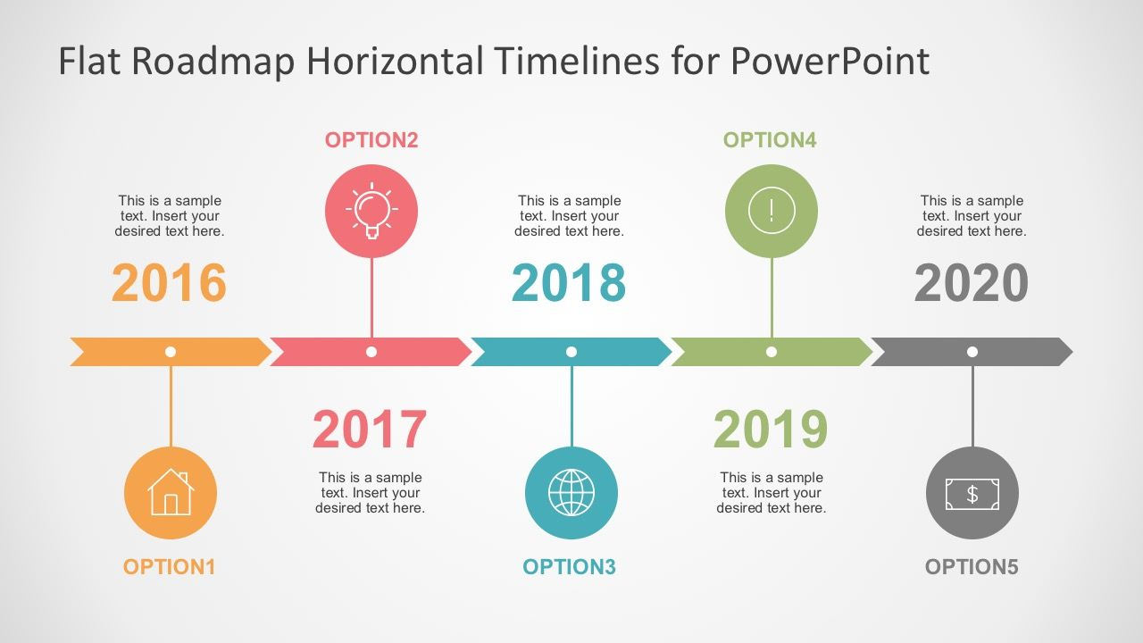 flat timelines powerpoint templates timeline infographic free professional