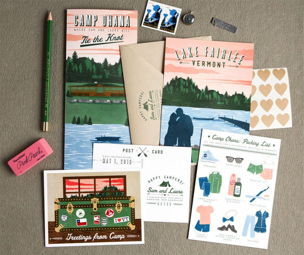 Camping Wedding Ideas: Laura Sam :: Vermont Camp Wedding