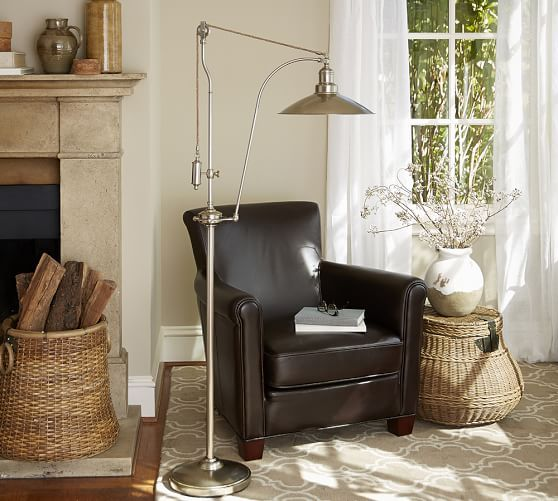 Glendale pulley task floor lamp from pottery barn