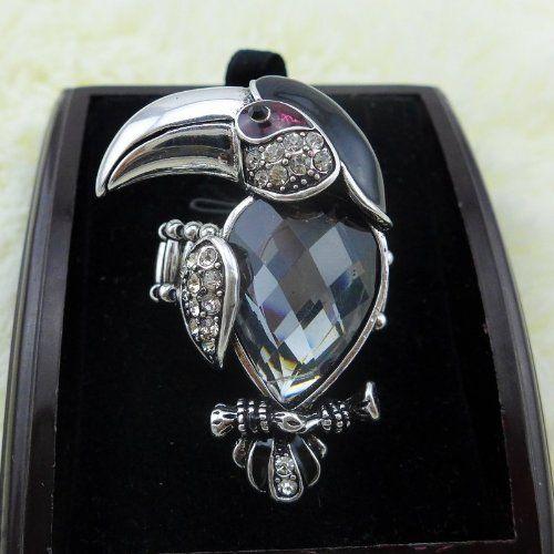X&Y ANGEL New Punk Austrian Crystal Rhinestone Vintage Long Fat Large Toucan Parrot Ring Jewelry Rings R0253 (black) X&Y ANGEL http://www.amazon.co.uk/dp/B00H99A456/ref=cm_sw_r_pi_dp_3NLjvb0P2GM0C