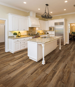 Stainmaster Plank Country Oak Vinyl Floor Kitchen Floor Ideas Beautiful Kitchen White Cabinets Wide Kitchen Staging Country Kitchen Designs Country Kitchen