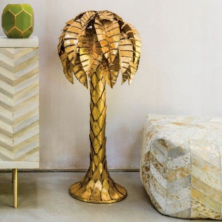 Gold Tropicana Palm Tree Floor Lamp - View All New In - New In - New ...