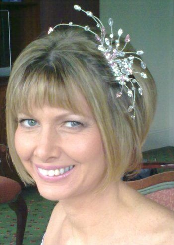 Fascinators For Short Hair Silver Comb Great A Modern Wedding Hairstyle