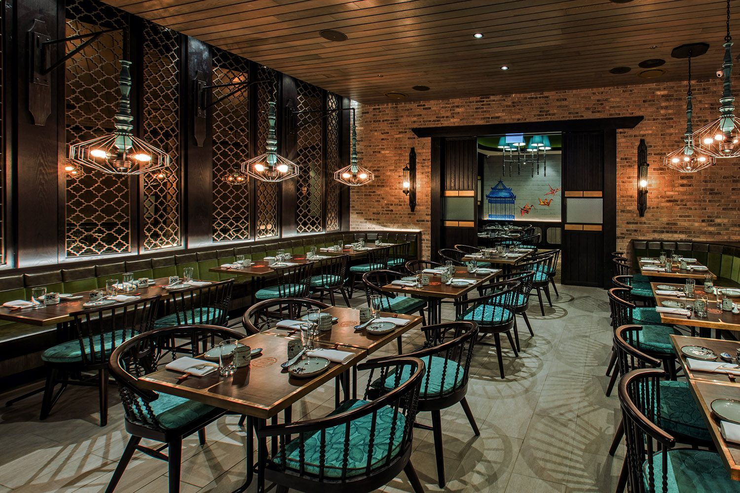 Imperial Lamian Chicago At S River North Usa In The United States Decoration Of Chinese Restaurants Is Thought To Be Somewhat Synonymous