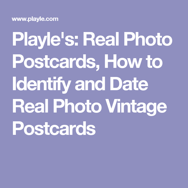 Playle postcard dating site