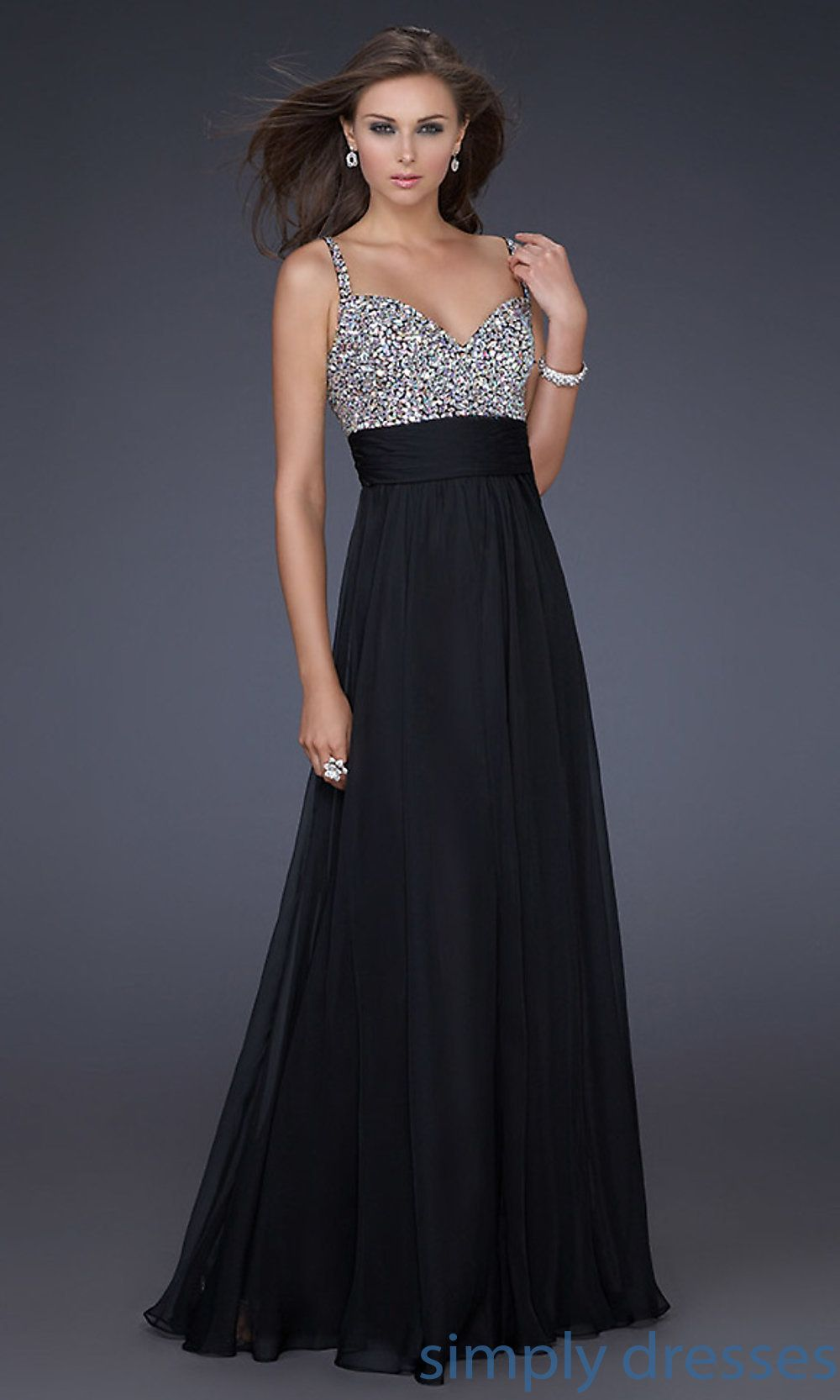 Black dress long formal - Lf 16802 La Femme Beaded Long Formal Dress