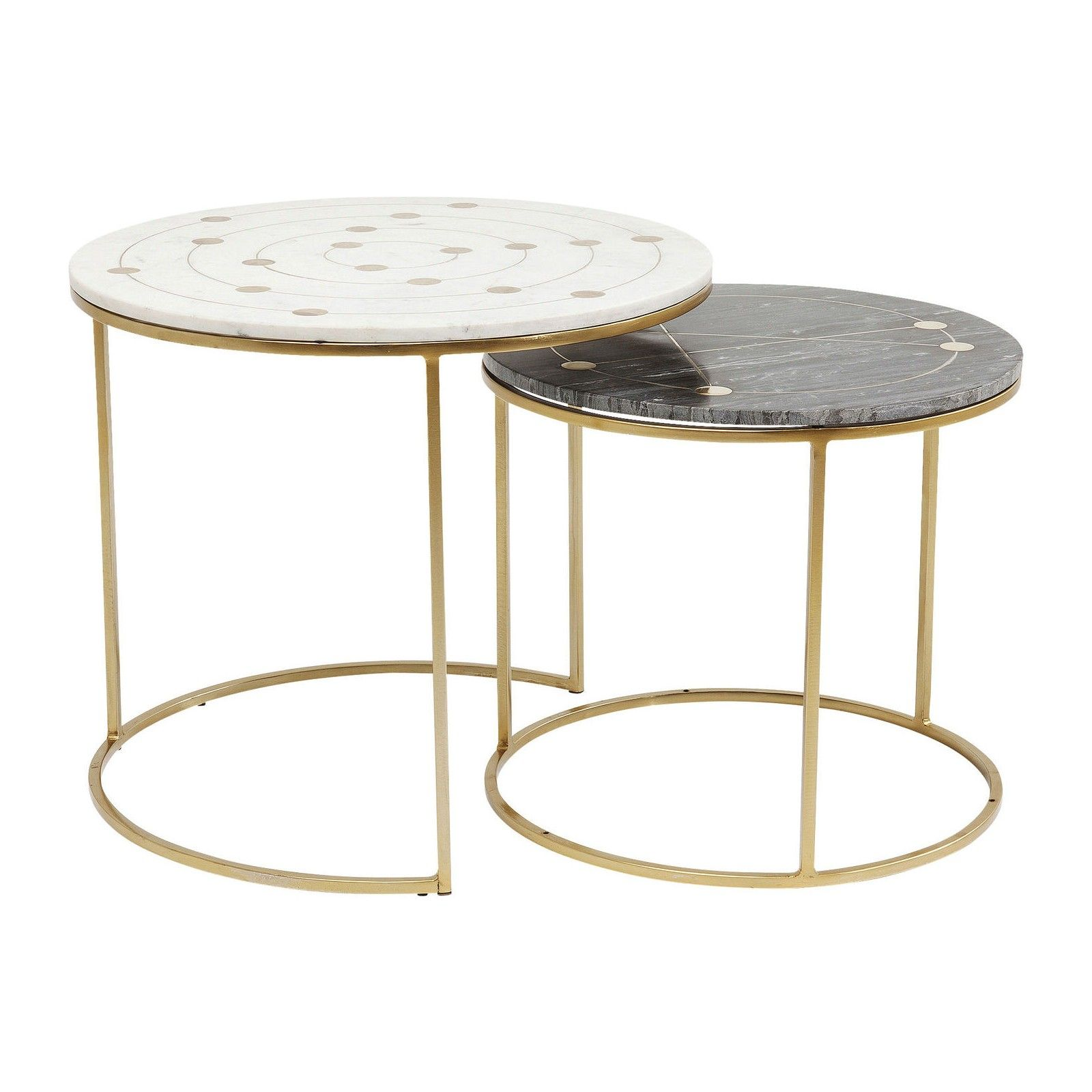 Tables D Appoint Mystic Set De 2 Kare Design Table D Appoint En Marbre Table D Appoint Kare Design