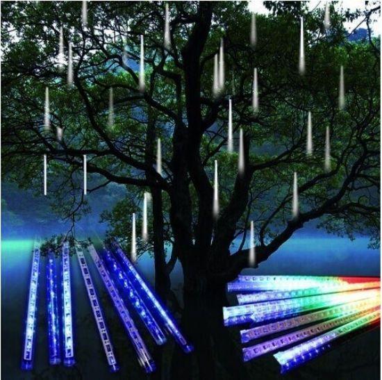 80//144 LED Meteor Shower Falling Star Rain Drop Icicle Snow Fall Fairy Light