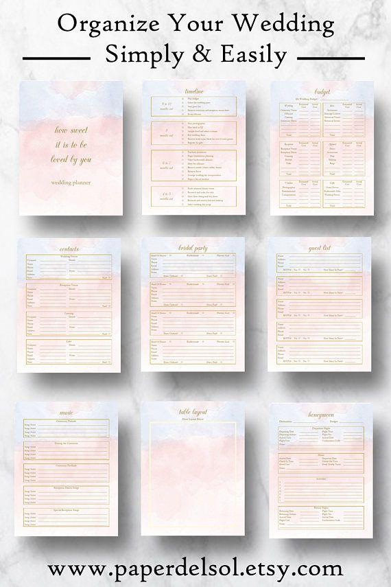Wedding Planner Downloadable Wedding Planner Book Pdf Planning