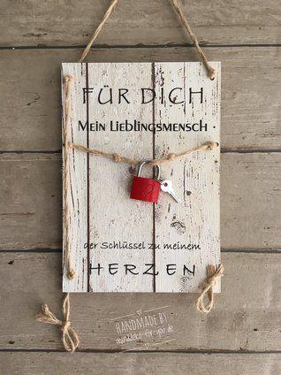 Schlüssel zum Herzen für Lieblingsmensch/Schat (Midi Wanddeko FüR DiCH