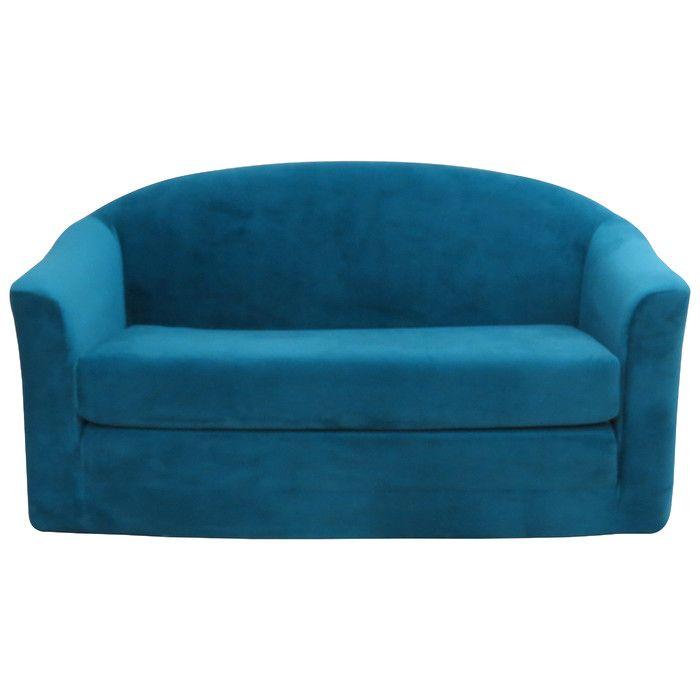 346 Kids Sleeper Sofa Bayou Blue Color On Wayfair