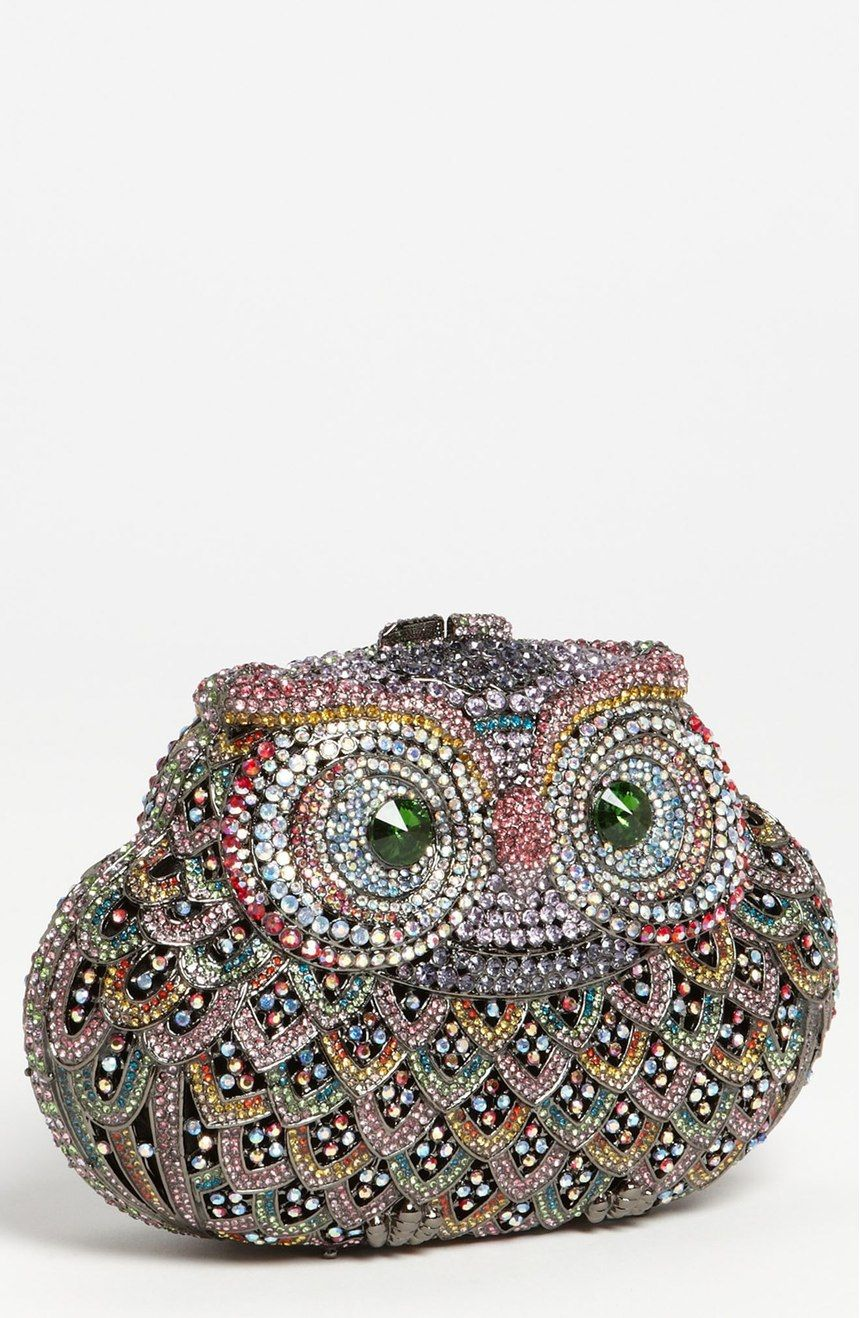Free shipping and returns on Natasha Couture Owl Clutch at Nordstrom.com. An inquisitive owl rendered in colorful sparkling crystals graces a head-turning clutch.