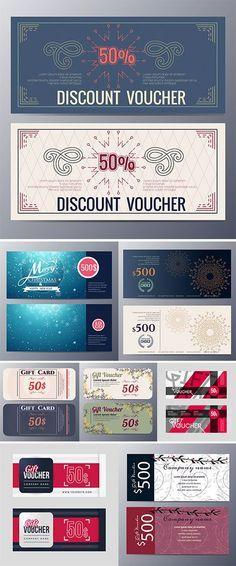 Gift voucher template design - Stock vectors \u2026 Pinteres\u2026