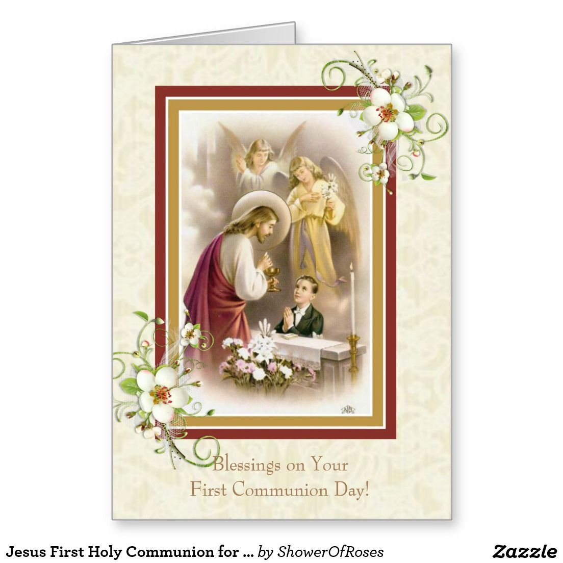 Jesus first holy communion for boy wangels greeting card shower jesus first holy communion for boy wangels greeting card kristyandbryce Choice Image