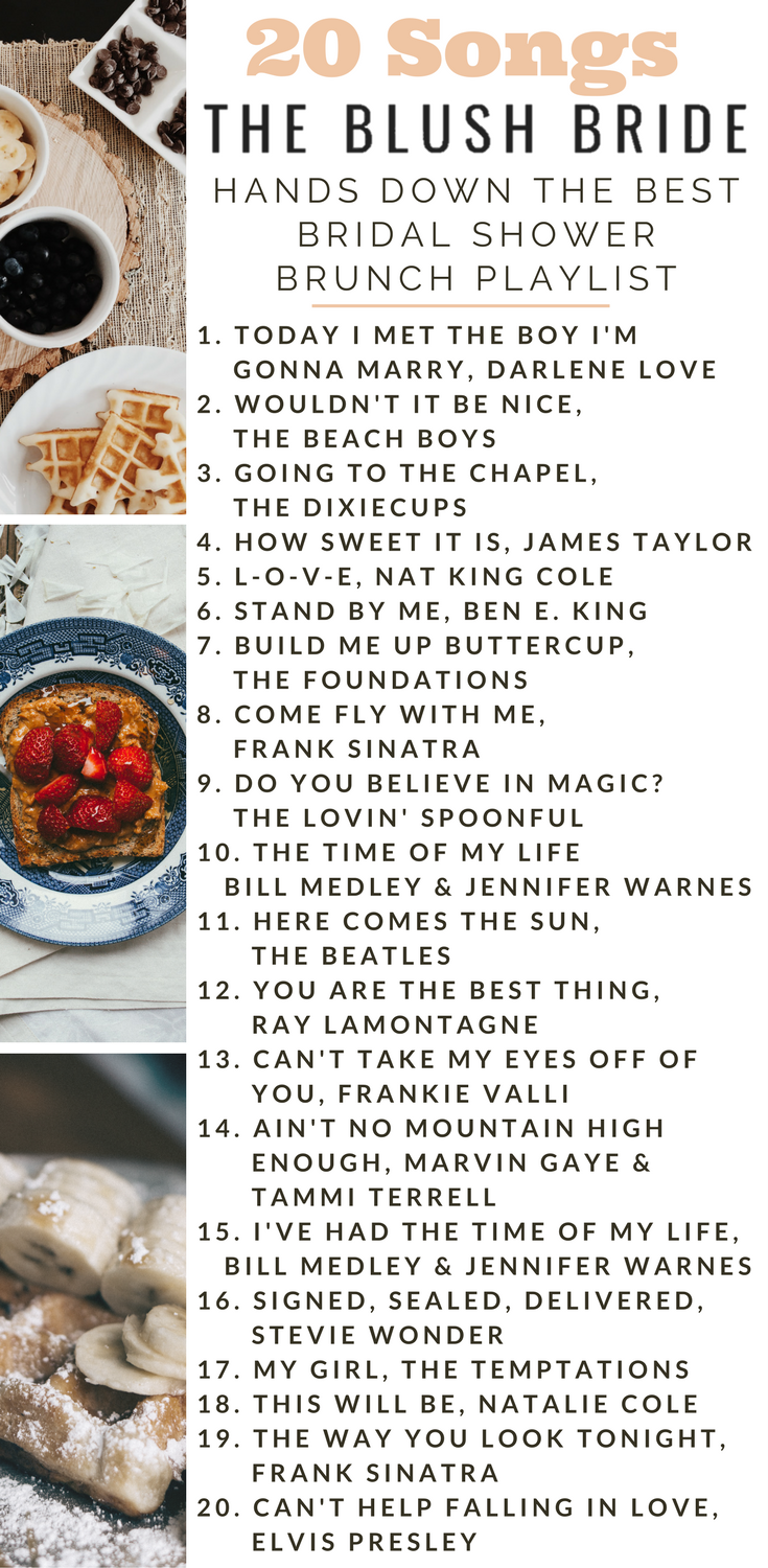 hands down the best bridal shower brunch playlist songs best wedding playlist