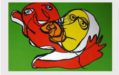 KAREL APPEL Putting green kiss , 1978 Contemporary art