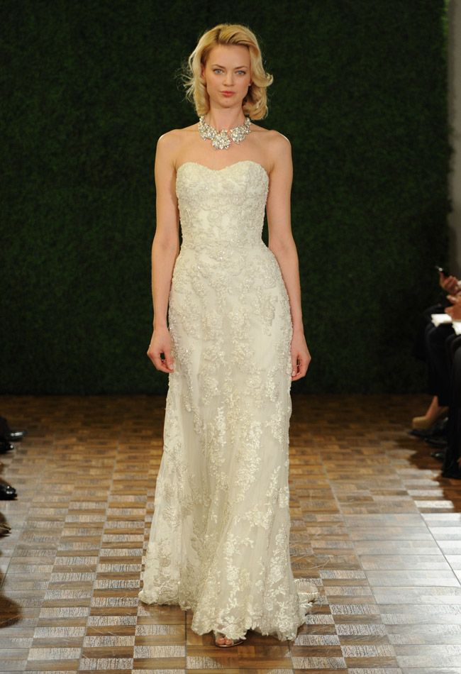 Watters Fall 2014 wedding dress | The Knot Blog - I love the way this drapes on the body, not too poofy and incredibly classy