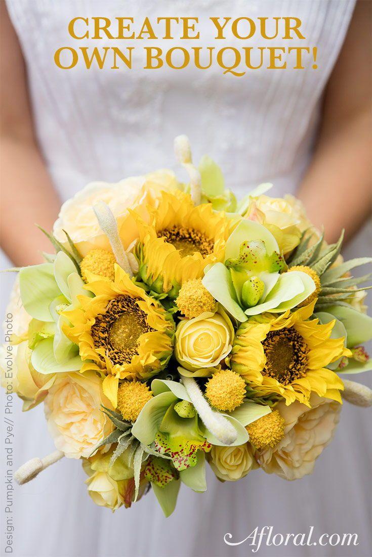 DIY Sunflower Wedding Bouquet  Yellow Weddings  Pinterest